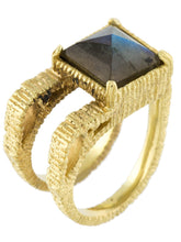 Load image into Gallery viewer, Kierre Ring with Labradorite
