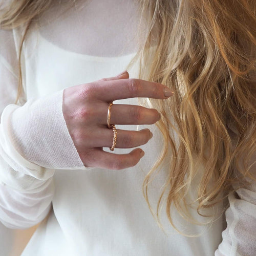 Two Piece Zinkir Ring - Rose Gold Vermeil