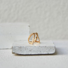 Load image into Gallery viewer, Textured c/o Claavi Ring - Gold Vermeil