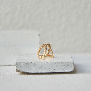 Textured c/o Claavi Ring - Gold Vermeil