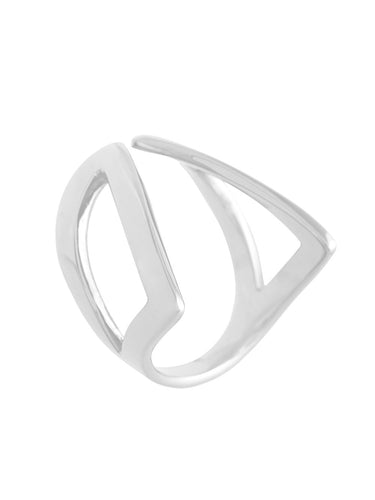 Cut-Out Claavi Ring - Silver