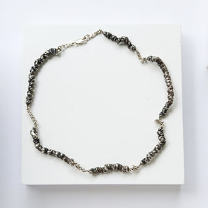 Solmu Necklace - Oxidised Silver