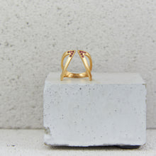 Load image into Gallery viewer, Gold c/o Claavi Ring - Tourmaline