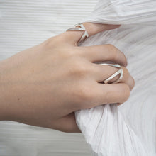 Load image into Gallery viewer, Cut-Out Claavi Ring with Pave Diamonds