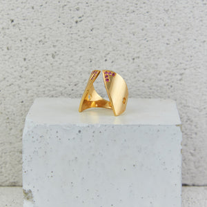 Gold Claavi Ring w. Tourmaline *LAST PIECE*