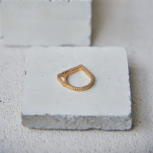 Load image into Gallery viewer, Textured Kirea Ring - Gold Vermeil