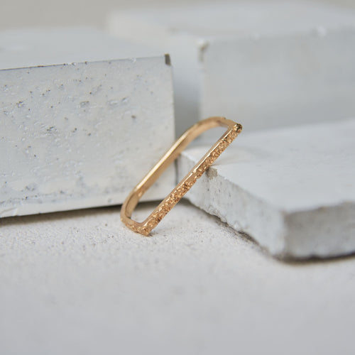 Textured Linea Ring - Gold Vermeil