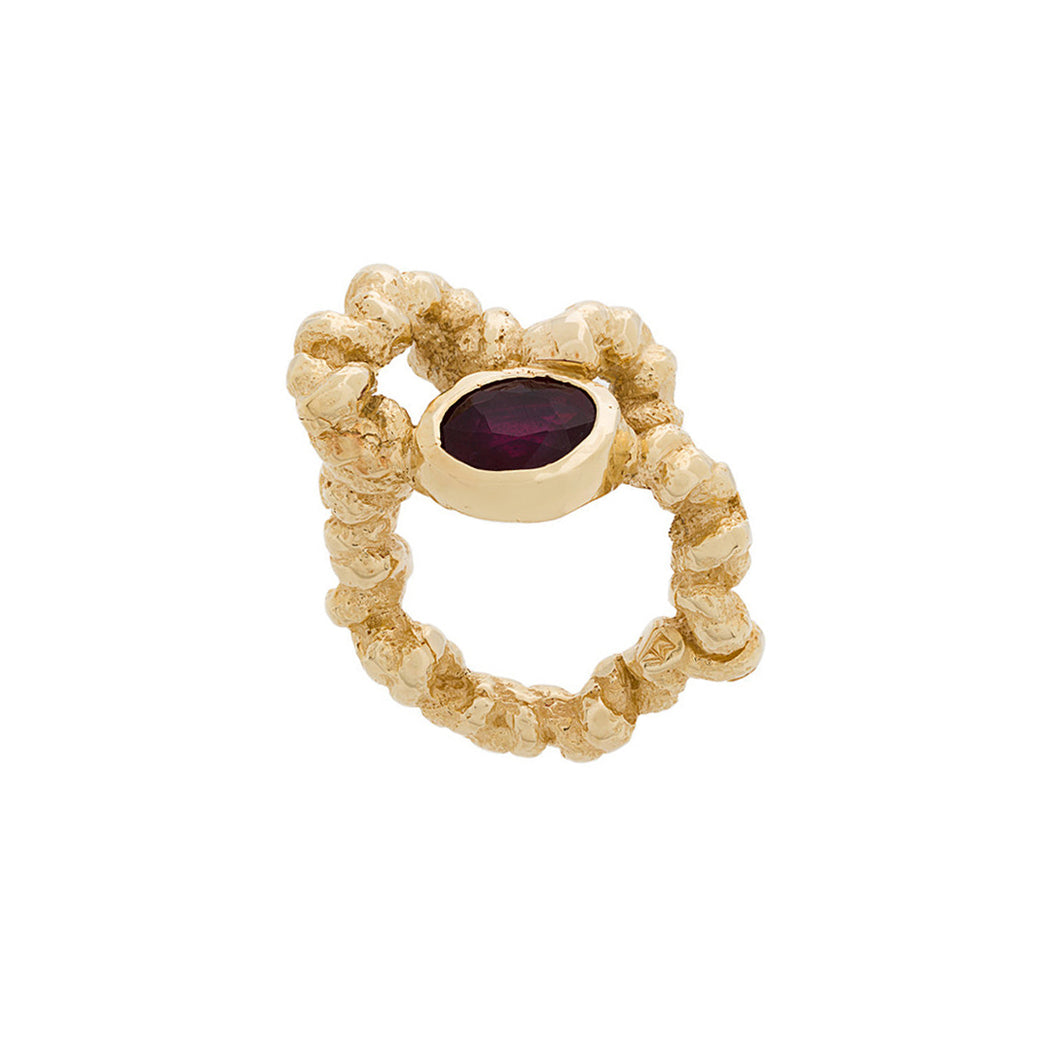 *Solmu Ring with Garnet