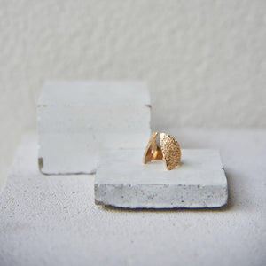 Textured Claavi Ring - Gold Vermeil