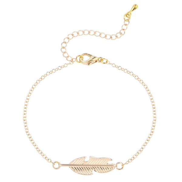 SoulSisters All Products Feder Armband mit 18k vergoldet