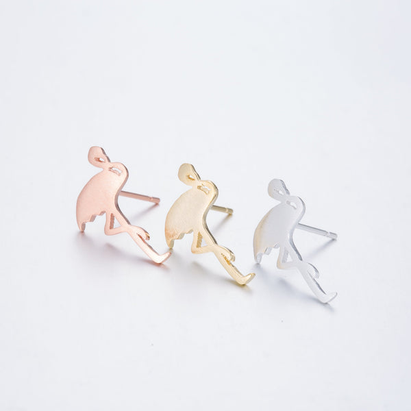 SoulSisters All Products Flamingo Ohrringe - minimalistisch 18k vergoldet