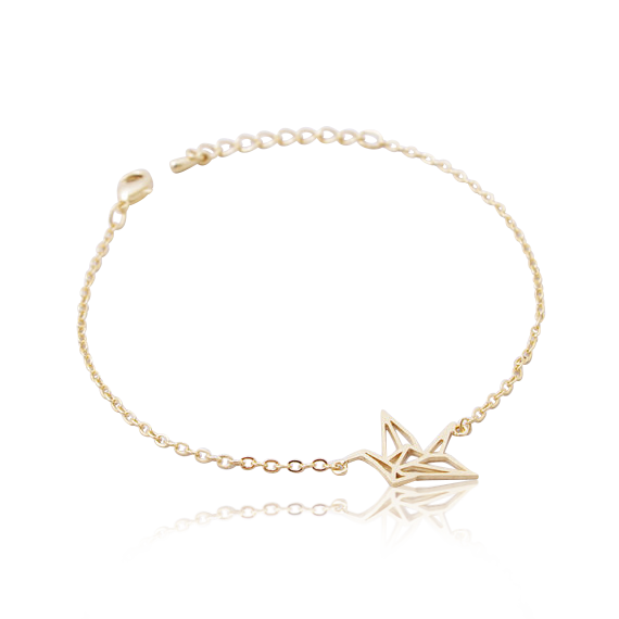 SoulSisters All Products Gold SoulSisters Kranich Armband 925 versilbert