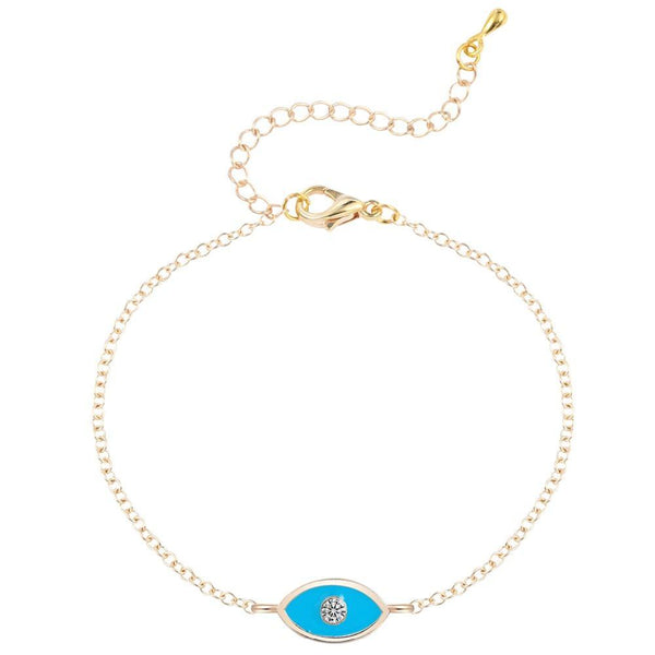 SoulSisters All Products Gold SoulSisters türkis Evil-Eye Armband