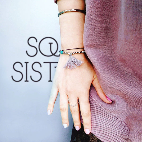 SoulSisters All Products Leder Armband mit Quaste
