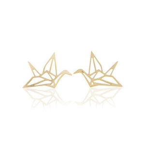 SoulSisters All Products Ohrstecker Kranich Origami 18k vergoldet