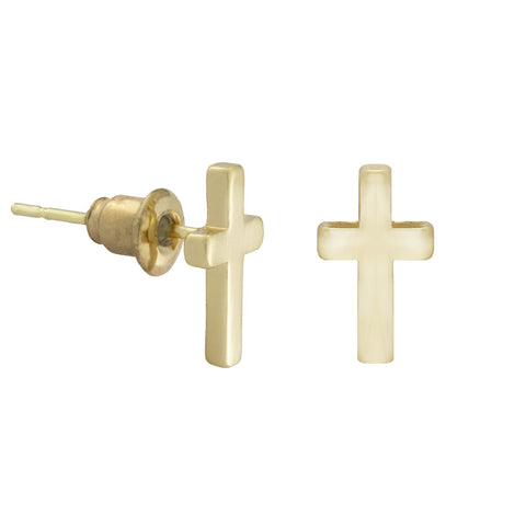 SoulSisters All Products Ohrstecker Kreuz 18k vergoldet