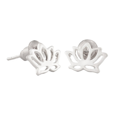 SoulSisters All Products Ohrstecker Lotus Blume  925 versilbert