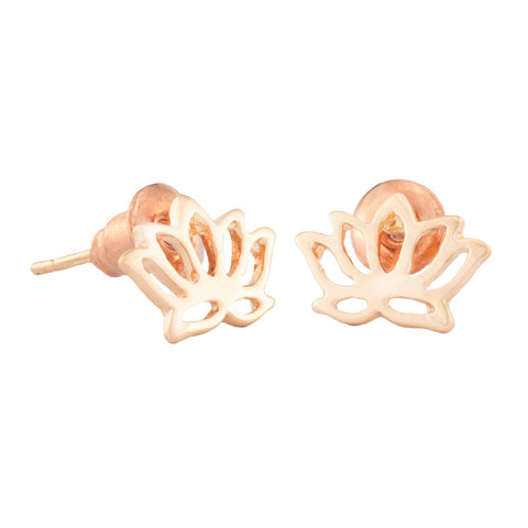 SoulSisters All Products Ohrstecker Lotus Blume rose vergoldet