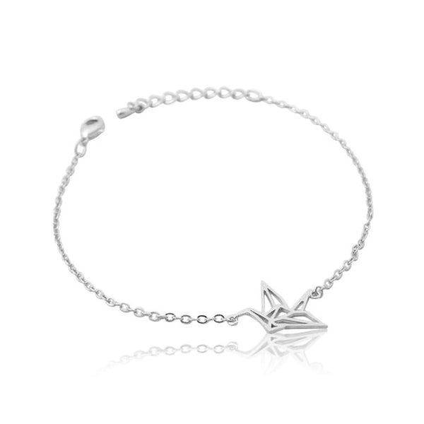 SoulSisters All Products Silber Kranich Armband vergoldet