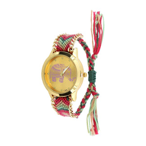 SoulSisters All Products SoulSisters Armbanduhr Elefant Boho Fashion Rosa