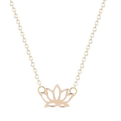 SoulSisters All Products SoulSisters Halskette Lotus Blume 18k vergoldet