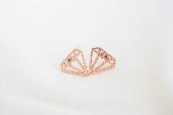 SoulSisters All Products SoulSisters Ohrstecker Diamant 18 karat rose vergoldet
