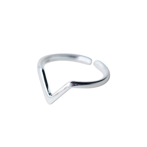 SoulSisters Ring Ring in V-Form aus 925 Sterling Silber, verstellbar