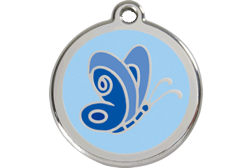 Red Dingo Enamel Pet ID Tag Butterfly (1BL), Large