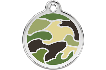 Red Dingo Enamel Pet ID Tag Camouflage (1CG), Large