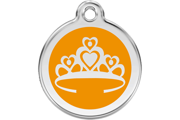 Red Dingo Enamel Pet ID Tag Crown (1CR), Large