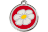 Red Dingo Enamel Pet ID Tag Daisy (1DA), Large