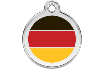 Red Dingo Enamel Pet ID Tag German Flag (1DE), Small