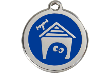 Red Dingo Enamel Pet ID Tag Dog House (1DH), Large