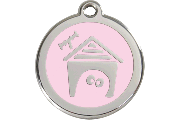 Red Dingo Enamel Pet ID Tag Dog House (1DH), Small
