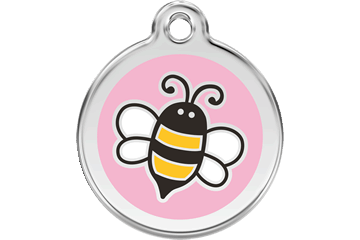 Red Dingo Enamel Pet ID Tag Bumble Bee (1EP), Large
