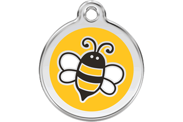 Red Dingo Enamel Pet ID Tag Bumble Bee (1EY), Medium
