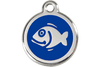 Red Dingo Enamel Pet ID Tag Fish (1FI), Small
