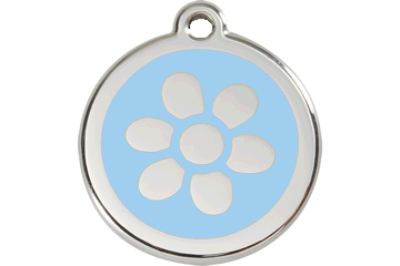 Red Dingo Enamel Pet ID Tag Flower (1FW), Large