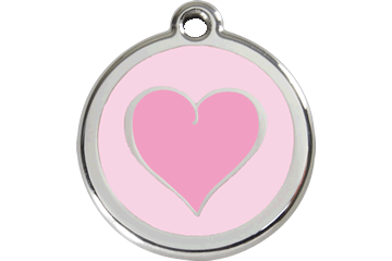 Red Dingo Enamel Pet ID Tag Heart (1HK), Small