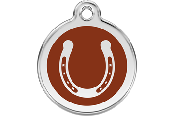 Red Dingo Enamel Pet ID Tag Horseshoe (1HS), Medium