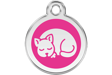 Red Dingo Enamel Pet ID Tag Kitten (1KT), Small
