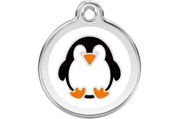 Red Dingo Enamel Pet ID Tag Penguin (1PE), Medium