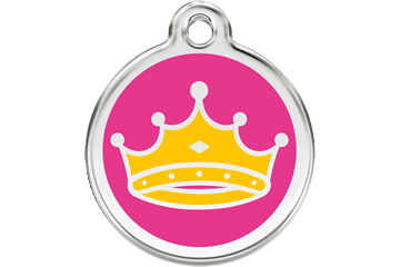 Red Dingo Enamel Pet ID Tag Queen (1QC), Large