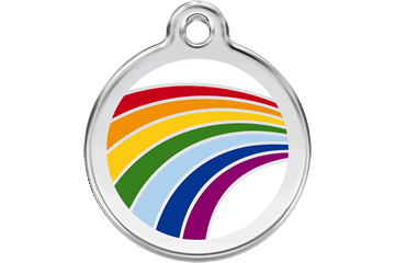 Red Dingo Enamel Pet ID Tag Rainbow (1RA), Medium