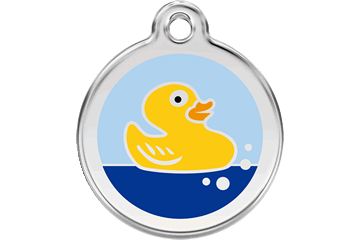 Red Dingo Enamel Pet ID Tag Rubber Duck (1RU), Small