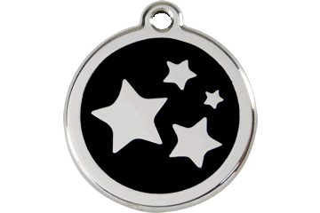 Red Dingo Enamel Pet ID Tag Stars (1ST), Small