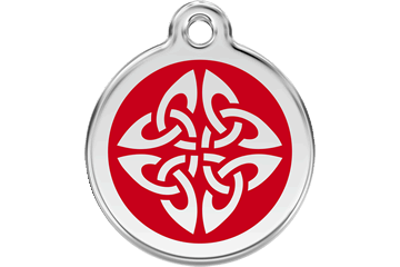 Red Dingo Enamel Pet ID Tag Tribal Arrows (1TA), Large