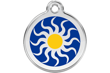Red Dingo Enamel Pet ID Tag Tribal Sun (1TS), Small