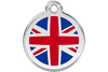 Red Dingo Enamel Pet ID Tag UK Flag (1UK), Small
