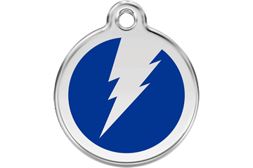 Red Dingo Enamel Pet ID Tag Flash (1ZF), Large
